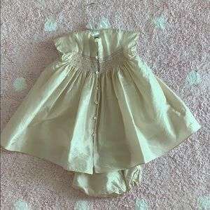 Bonpoint Dresses - Bonpoint Couture silk Baby girl dress/bloomer 18M